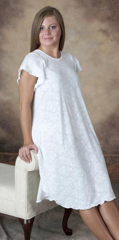 Short Sleeve Short Gown Cotton Lace Collection