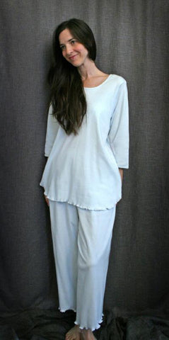 3/4 Sleeve Top & Palazzo Pajamas Soft Interlock Fabric