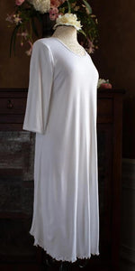 3/4 Sleeve 3/4 Length Gown Interlock Collection