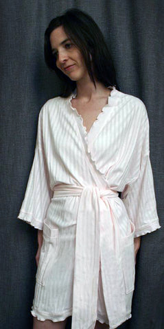 Short Wrap Robe Shadow Stripe Collection