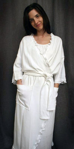 Long Wrap Robe Check Collection