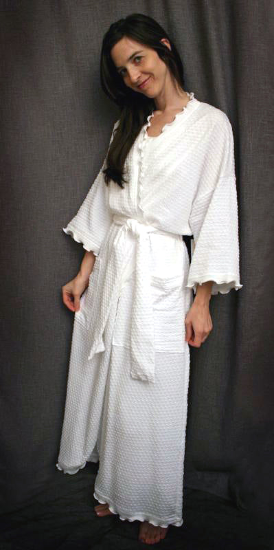 Long Wrap Robe Dot Collection