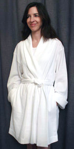 Short Shawl Collar Robe Basket Weave Collection