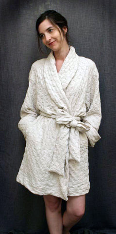 Short Shawl Collar Robe Waffle Collection