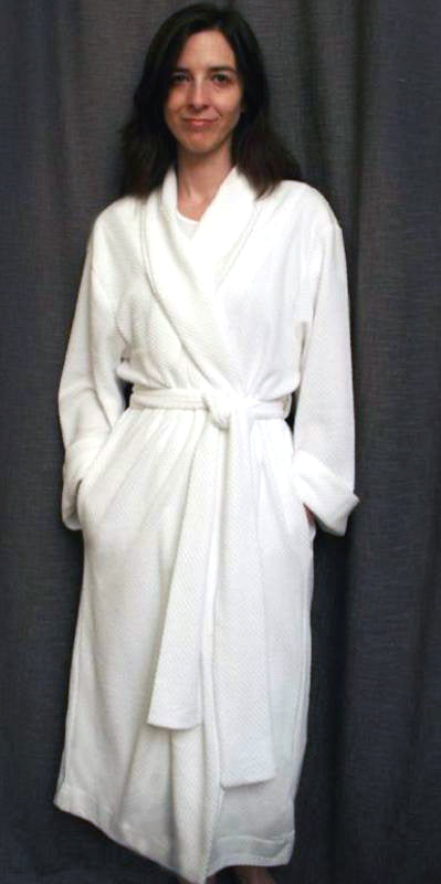 3/4 Length Shawl Collar Robe Basket Weave Collection