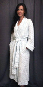 3/4 Length Shawl Collar Robe Waffle Collection