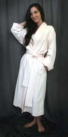 3/4 Length Shawl Collar Robe Check Collection