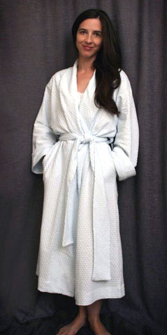 3/4 Length Shawl Collar Robe Dot Collection