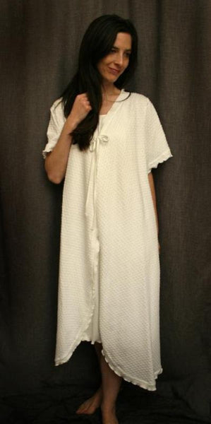 Short Sleeve 3/4 Length Swing Robe Dot Collection
