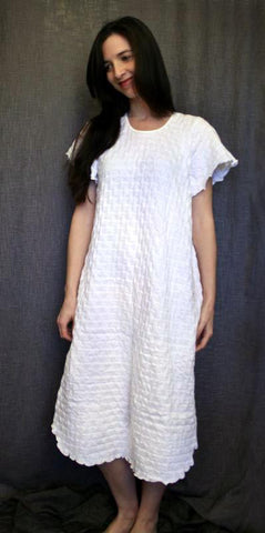 Short Sleeve 3/4 Length Gown Waffle Collection