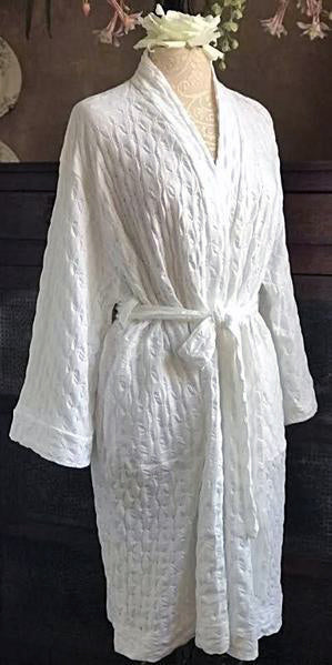 Short Simple Wrap Robe Waffle Collection