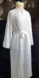 3/4 Length Simple Wrap Robe Waffle Collection