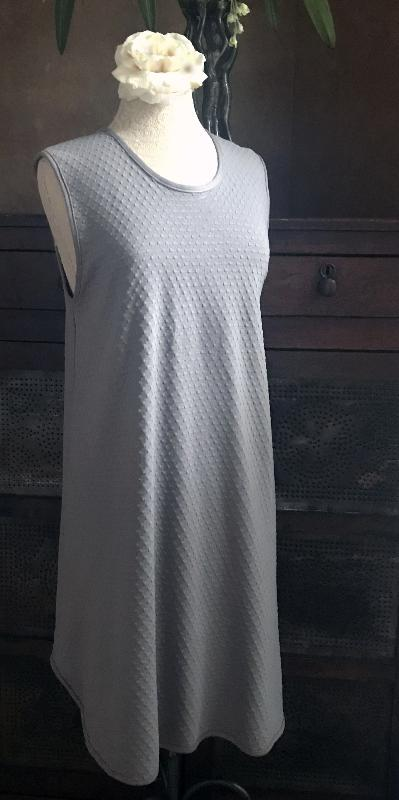 Smokey Neutrals Sleeveless Short Gown or Dress Dot Collection