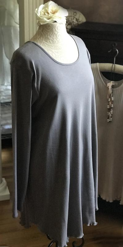 Smokey Neutrals Long Sleeve Short Gown Interlock