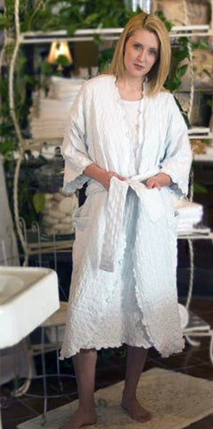 3/4 Length Wrap Robe Waffle Collection