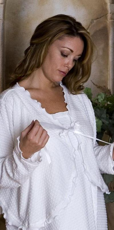 Cotton Bed Jacket Dot Collection - Simple Pleasures, Inc.