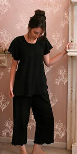 Short Sleeve Long Top & Palazzos Interlock Collection