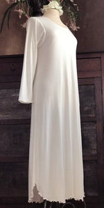 Long Sleeve Long Gown Interlock