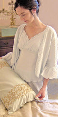 Ruffle Sleeve Bed Jacket Dot Collection
