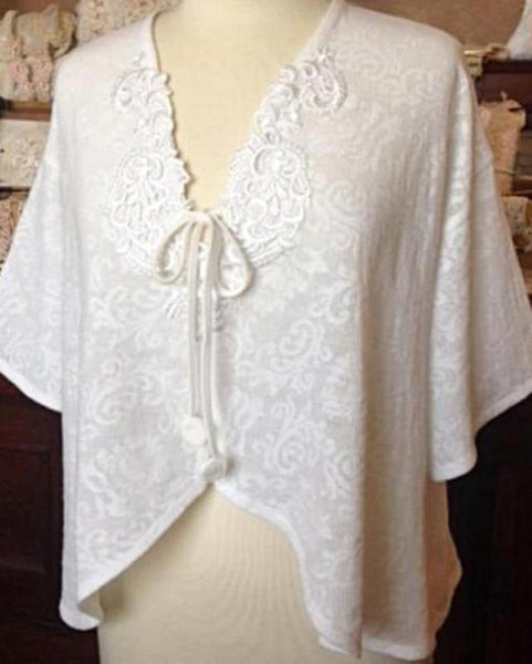 Lace Peignoir Bed Jacket