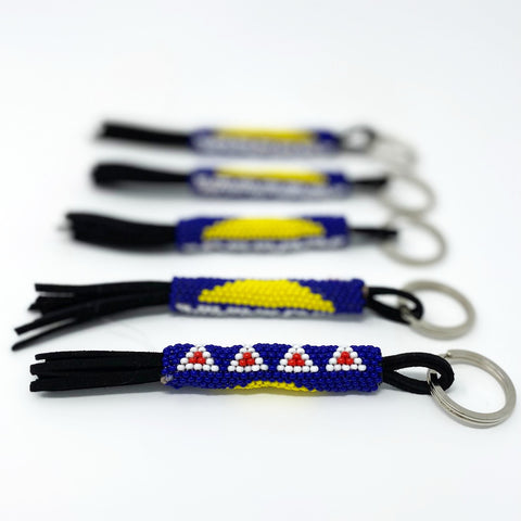 Beaded Tłı̨chǫ Flag Key Chain