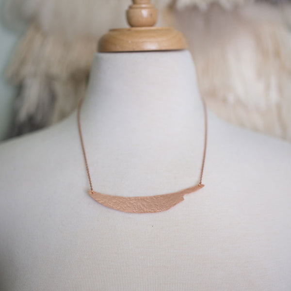 Copper Knife Necklace