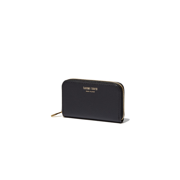 ROUND ZIP MINI WALLET<br>BLACK<br>(ラウンド小銭入れ) - takumitokyo.