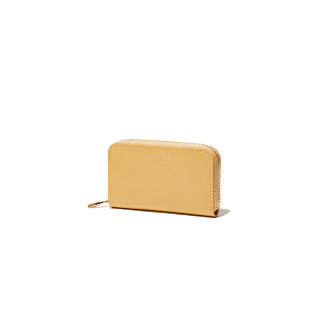 ROUND ZIP MINI WALLET<br>HONEYGOLD<br>(ラウンド小銭入れ) - takumitokyo.