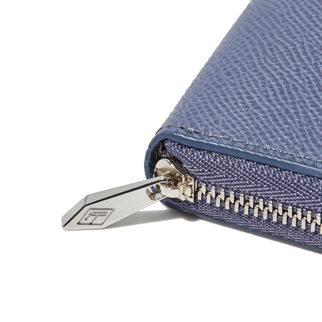 ROUND ZIP MINI WALLET<br>BLUELAVENDER<br>(ラウンド小銭入れ) - takumitokyo.
