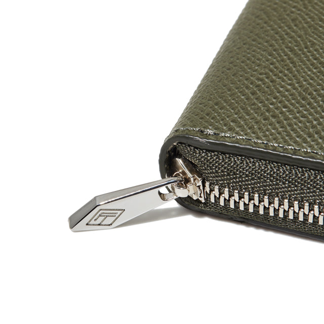 ROUND ZIP MINI WALLET<br>OLIVEGREEN<br>(ラウンド小銭入れ) - takumitokyo.