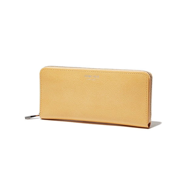 ROUND ZIP LONG WALLET<br>HONEYGOLD<br>(ラウンド束入れ長財布) - takumitokyo.