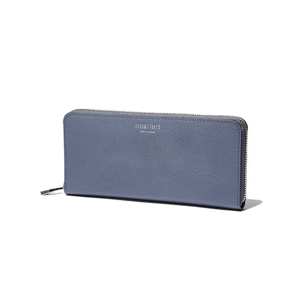ROUND ZIP LONG WALLET<br>BLUELAVENDER<br> (ラウンド束入れ長財布) - takumitokyo.