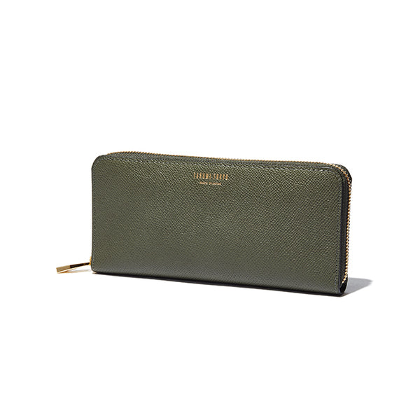 ROUND ZIP LONG WALLET<br>OLIVEGREEN<br>(ラウンド束入れ長財布) - takumitokyo.