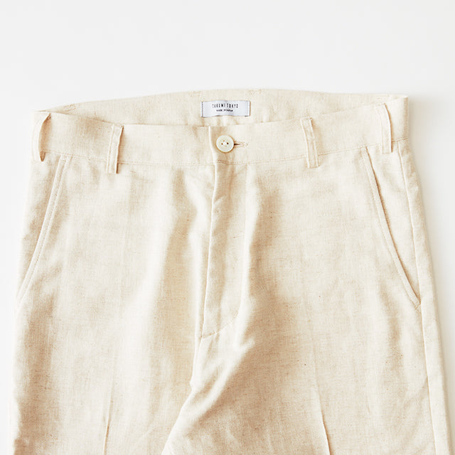 SLACKS PANTS(麻)BEIGE