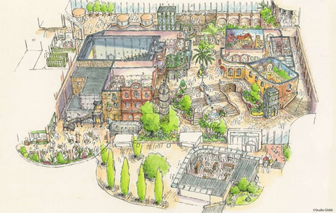 Plans for the Big Ghibli Warehouse Studio Ghibli Themepark Map