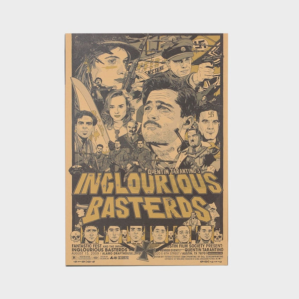 LARGE Inglourious Basterds Classic Movie Poster