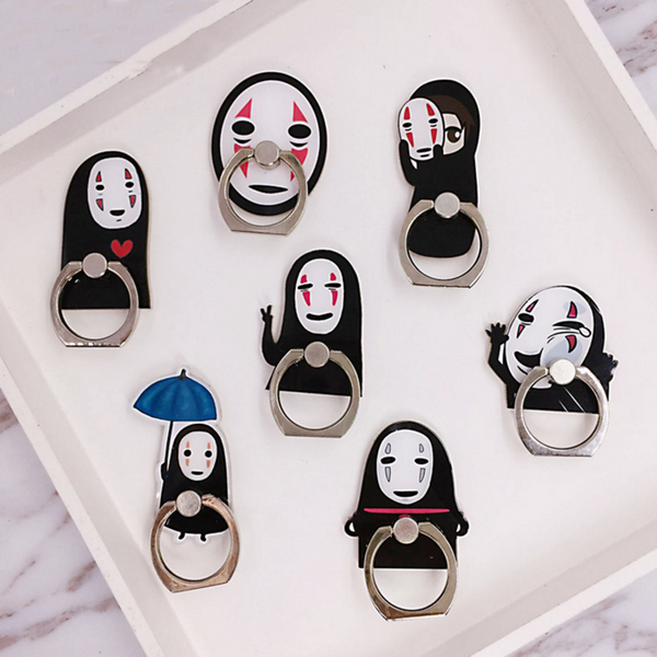 No Face Phone Finger Rings