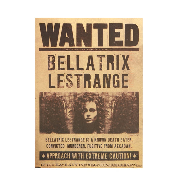 LARGE Bellatrix Lestrange Wanter Parchment Poster 20x14in (51x36cm)