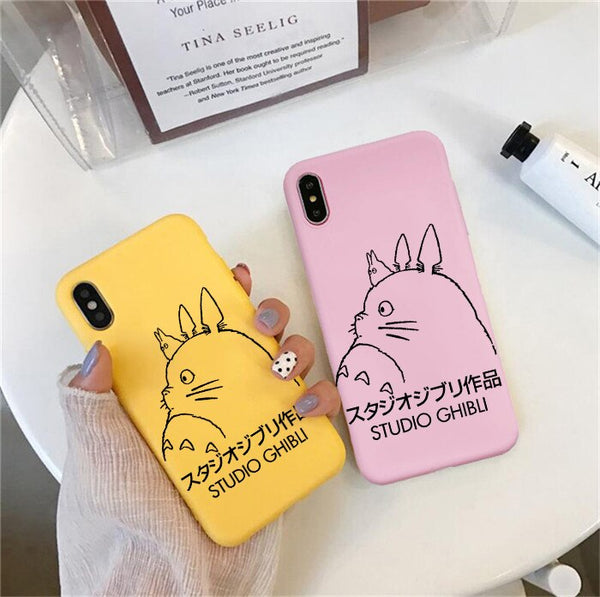 Minimalist Studio Ghibli iPhone Cases