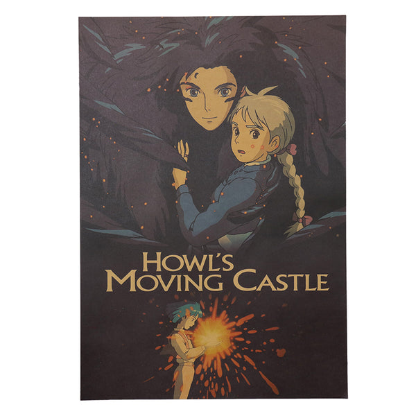 LARGE Howl and Sophie Movie Poster 20x14in (51x36cm)