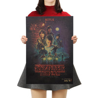 Various Vintage Stranger Things Retro Posters