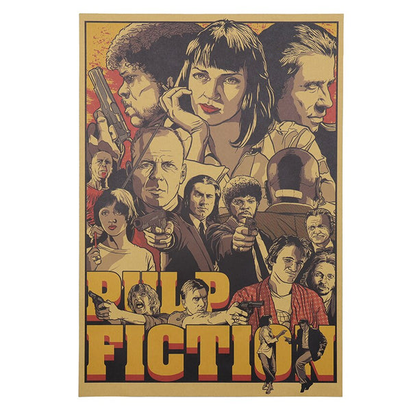 Pulp Fiction Illustrated Movie Poster