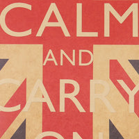 Keep Calm And Carry On Vintage Retro Classic Poster