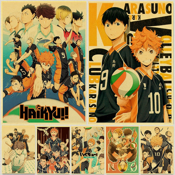 Haikyuu Assorted Posters (Buy 3 Get 1 Random Free)