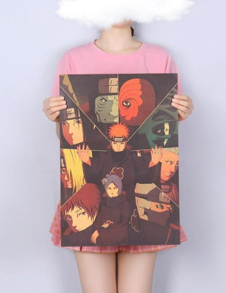 Naruto Akatsuki Manga Panel Color Print