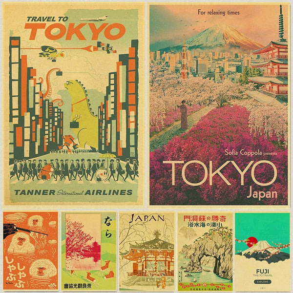 Vintage Japanese Travel Posters (Buy 3 Get 1 Random Free)