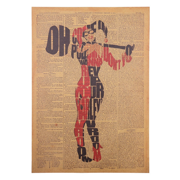 Harley Quinn Typography Poster