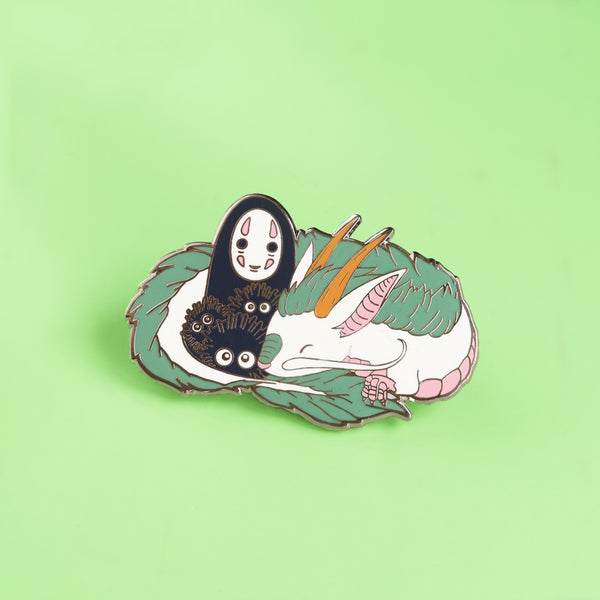 Haku and No Face Hard Enamel Pin