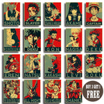 New Anime Hero Street Art Poster Collection