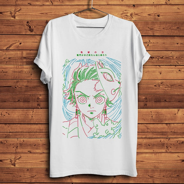 Tanjirou Line Art Demon Slayer Unisex Streetwear T Shirt
